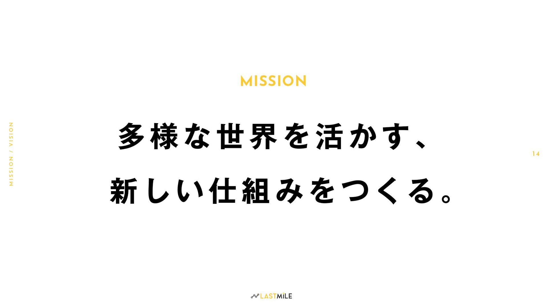 MISSION M I S S I O N / V I S I O N 1 4