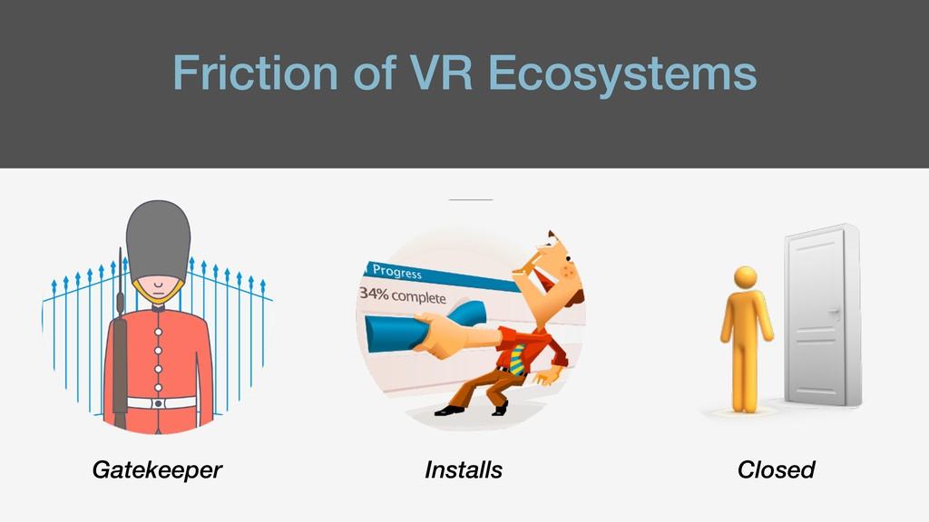 Friction of VR Ecosystems Gatekeeper Installs C...