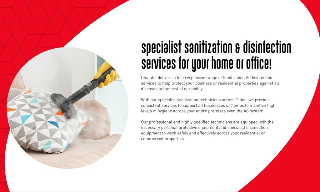Specialist Sanitization & disinfection services...