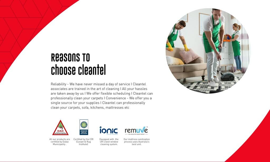 Reasons To Choose Cleantel Reliability - We hav...