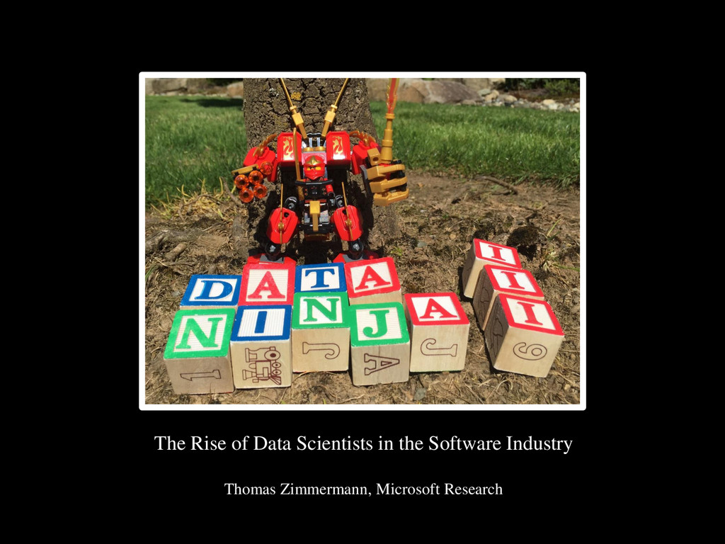 © Microsoft Corporation The Rise of Data Scient...