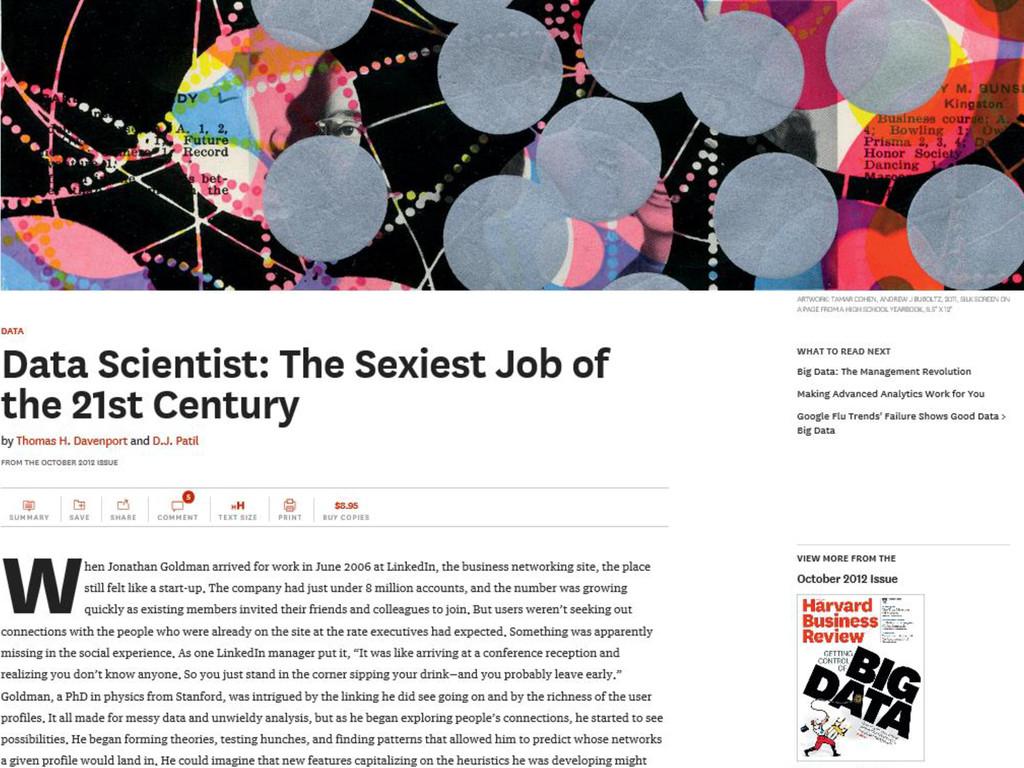 © Microsoft Corporation Data Scientists are Sexy