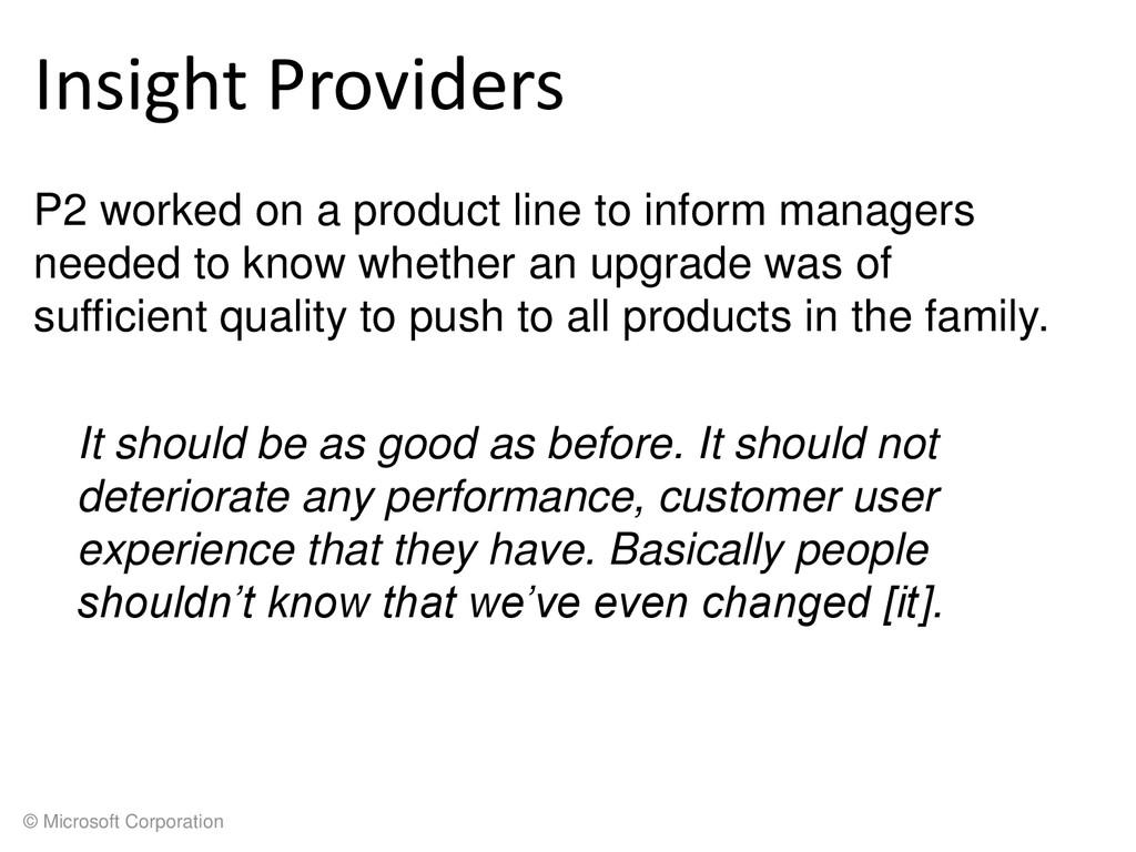 © Microsoft Corporation Insight Providers P2 wo...