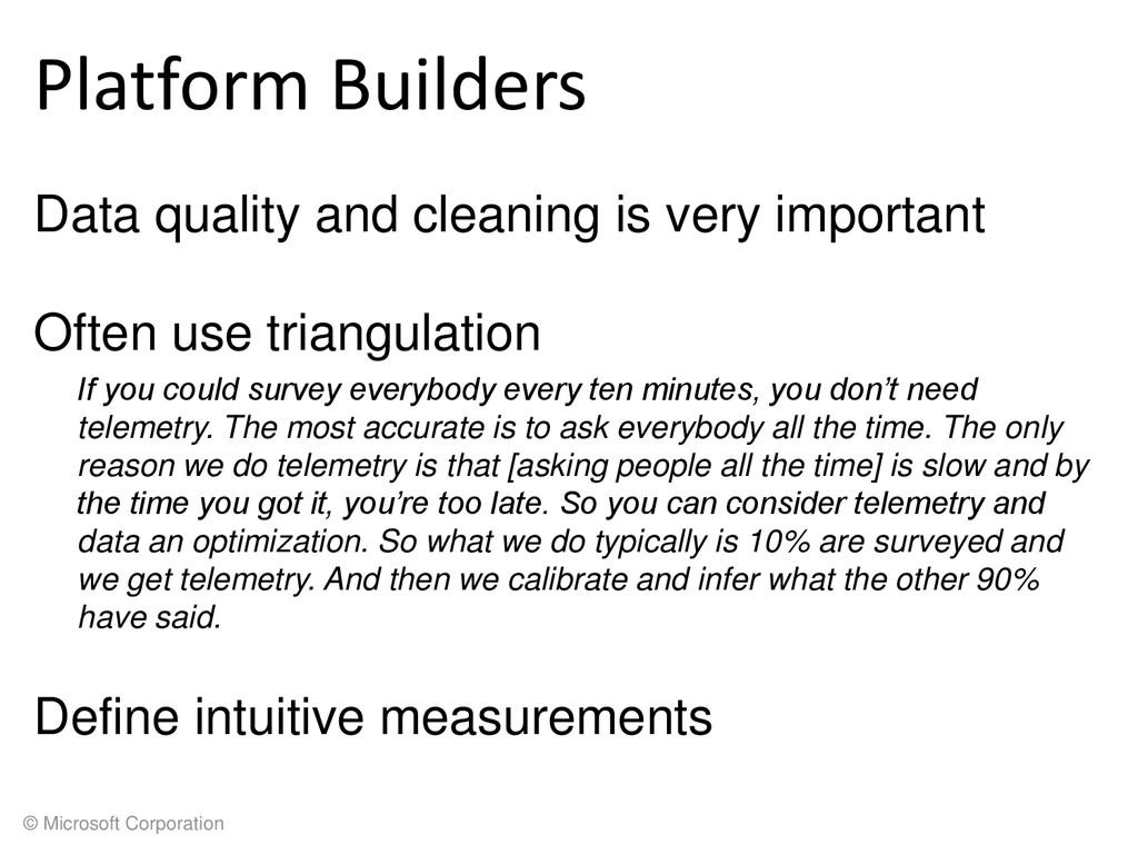 © Microsoft Corporation Platform Builders Data ...