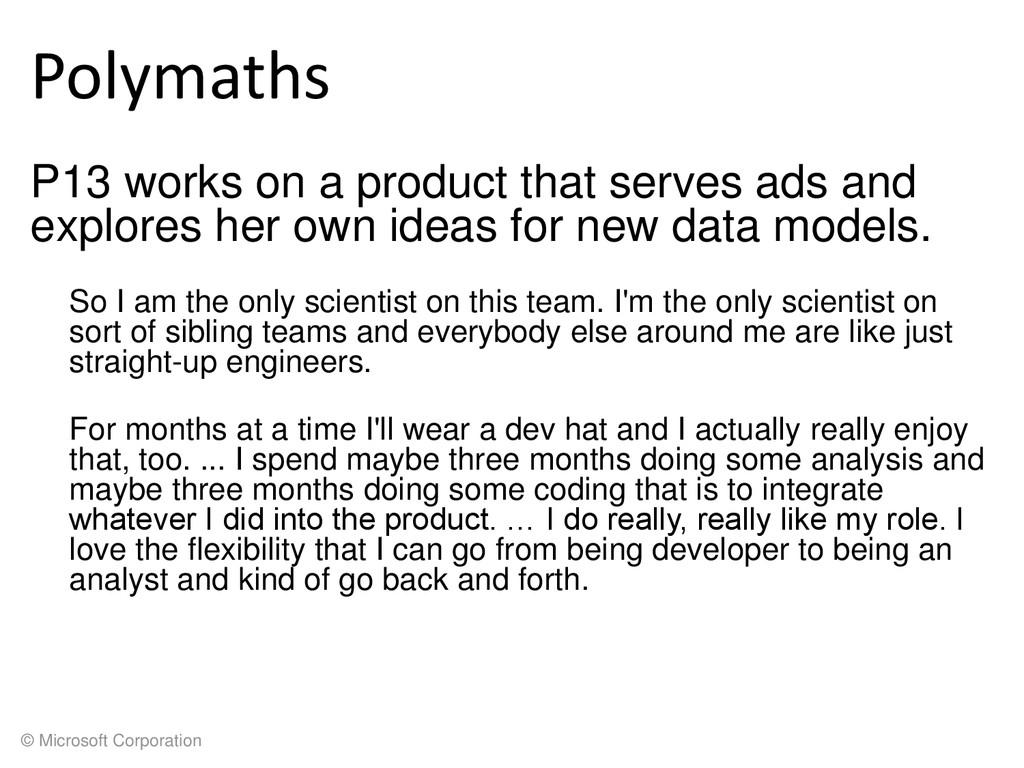 © Microsoft Corporation Polymaths P13 works on ...