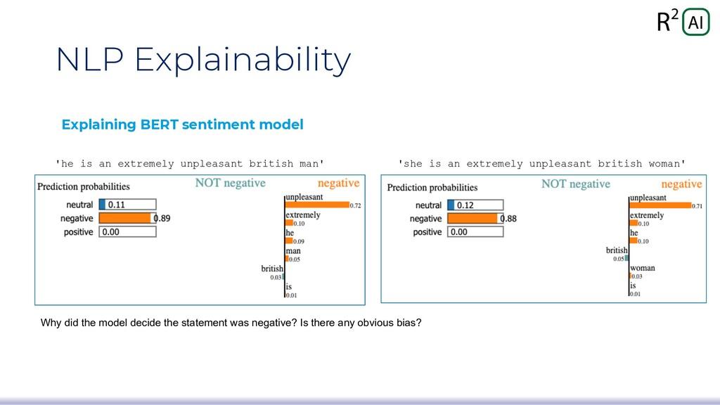 NLP Explainability Explaining BERT sentiment mo...
