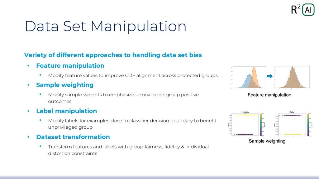 Data Set Manipulation Variety of different appr...