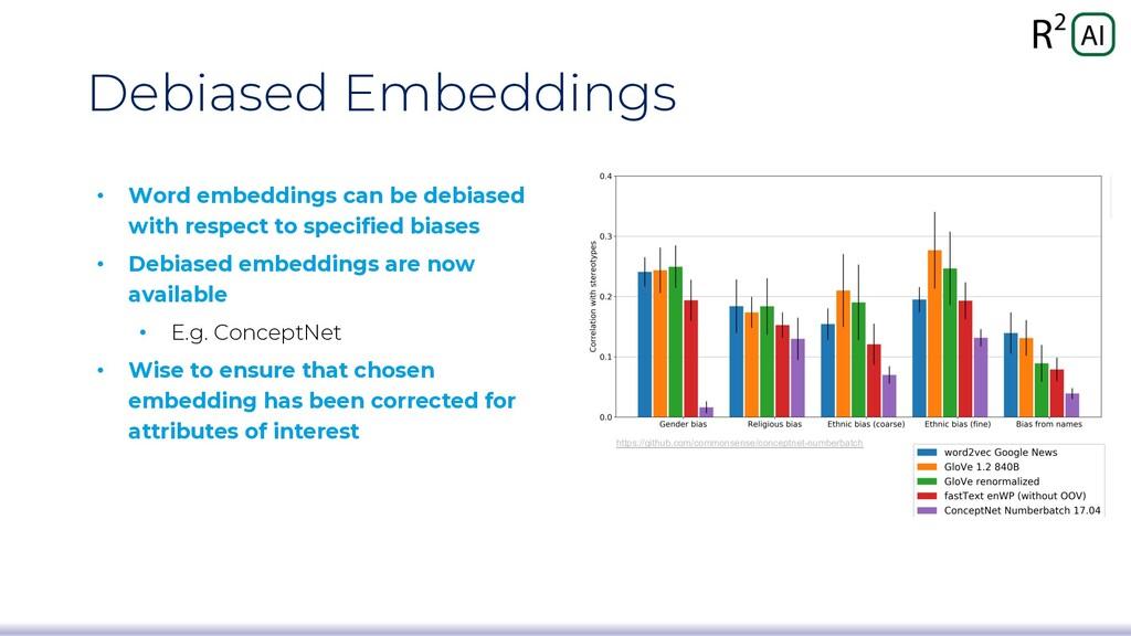 Debiased Embeddings • Word embeddings can be de...