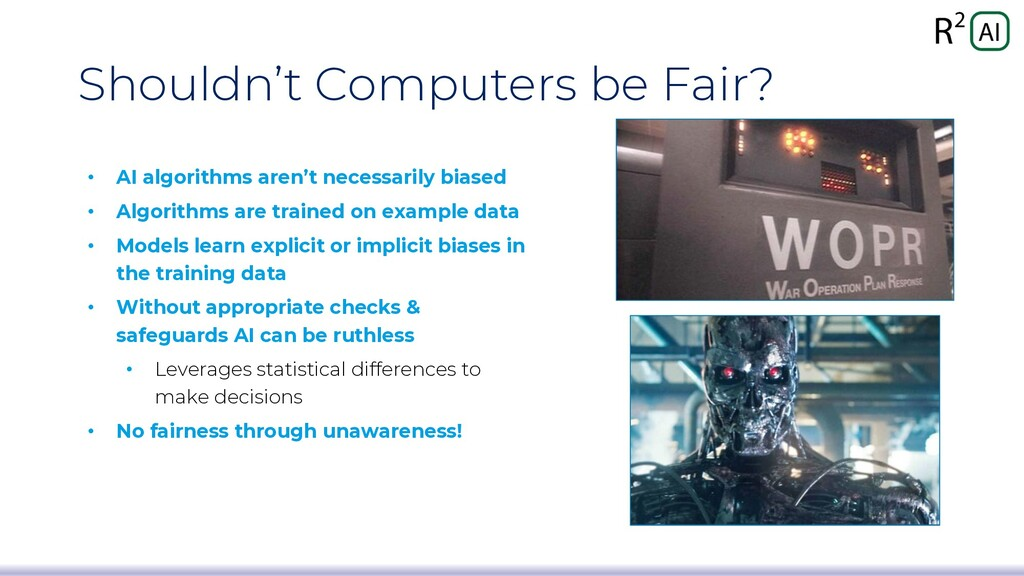 Shouldn't Computers be Fair? • AI algorithms ar...
