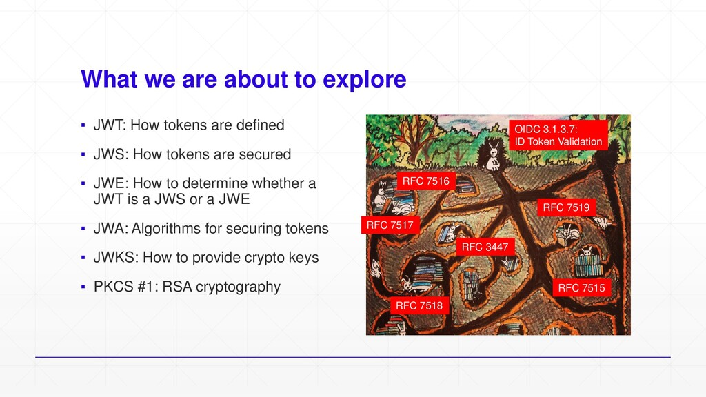 What we are about to explore ▪ JWT: How tokens ...