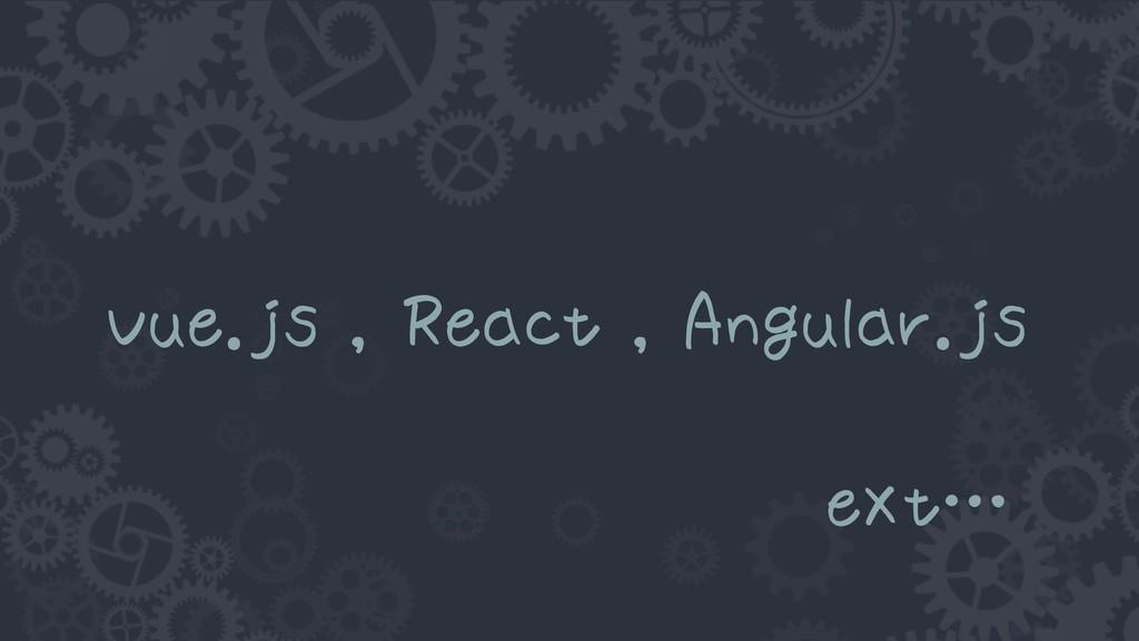Vue.js , React , Angular.js eXt…
