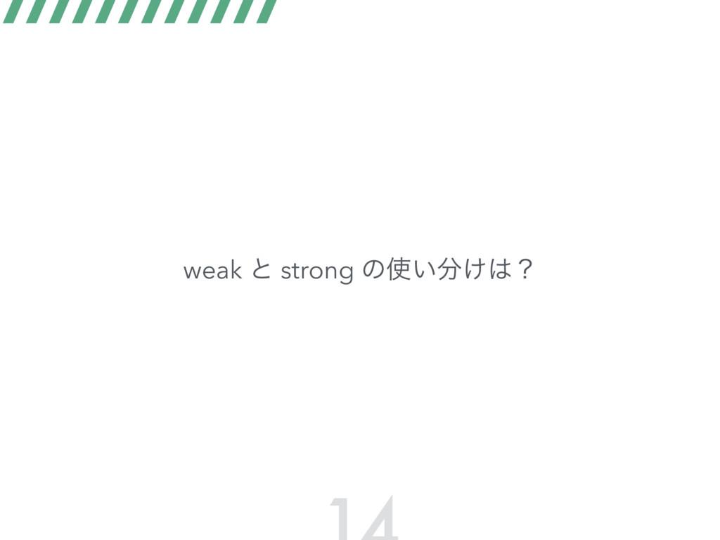 weak ͱ strong ͷ͍͚ʁ
