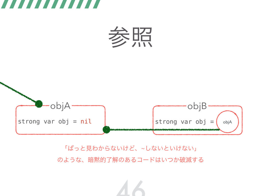 র strong var obj = nil objA strong var obj = o...