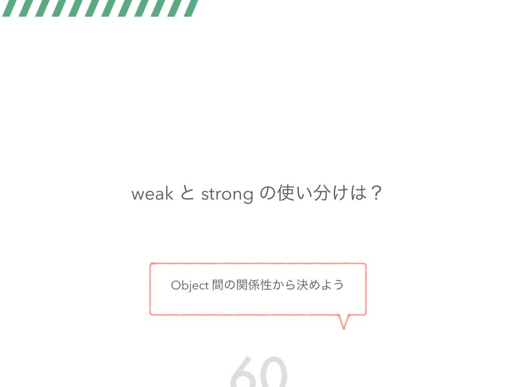 weak ͱ strong ͷ͍͚ʁ Object ؒͷؔੑ͔ΒܾΊΑ͏