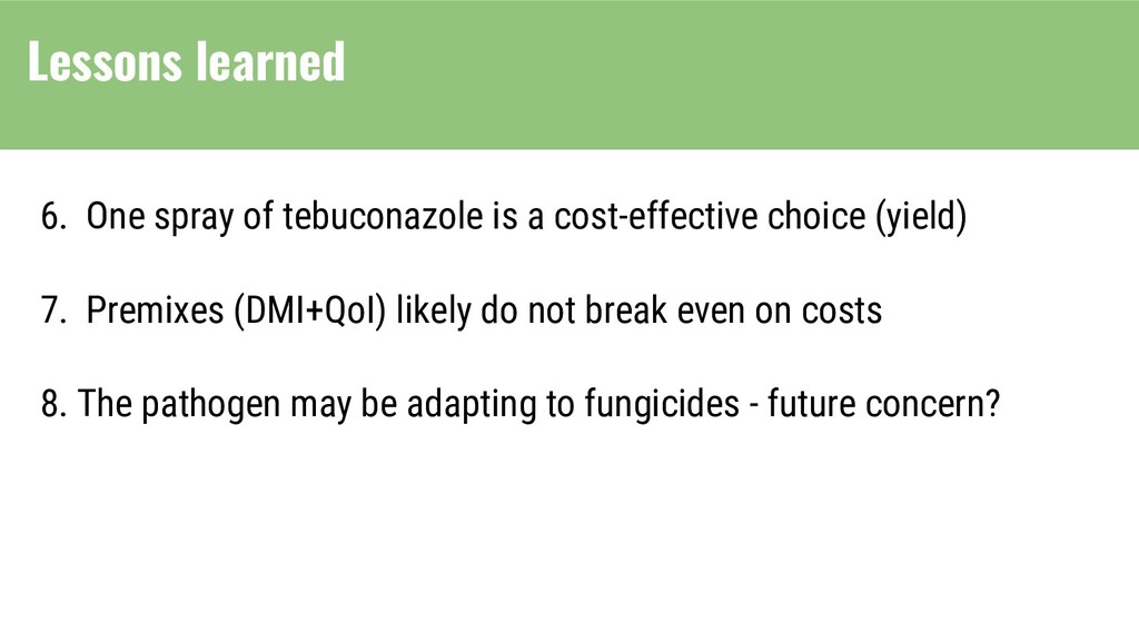 6. One spray of tebuconazole is a cost-effectiv...