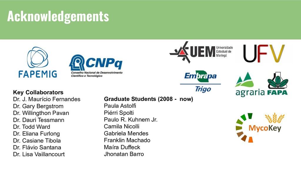 Key Collaborators Dr. J. Maurício Fernandes Dr....