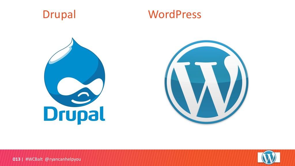 Drupal WordPress #WCBalt @ryancanhelpyou 013