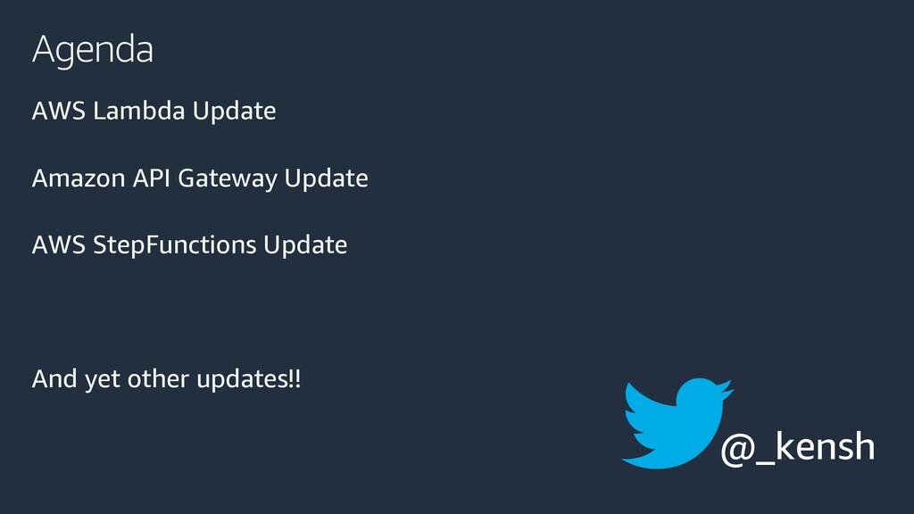 Agenda AWS Lambda Update Amazon API Gateway Upd...