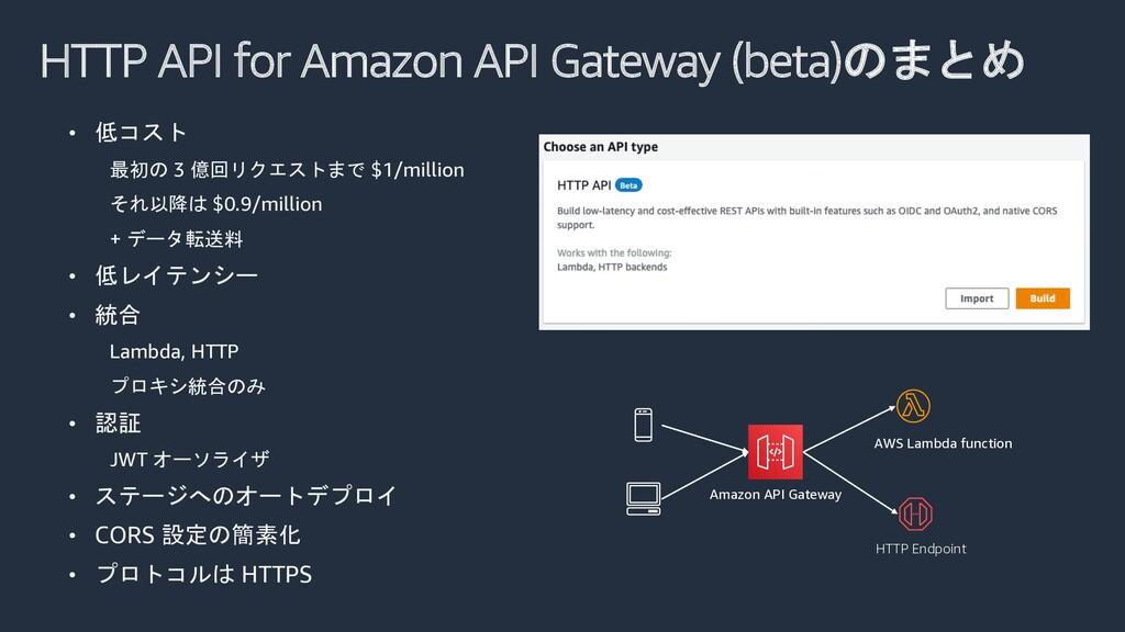 HTTP API for Amazon API Gateway (beta)のまとめ • 低コ...