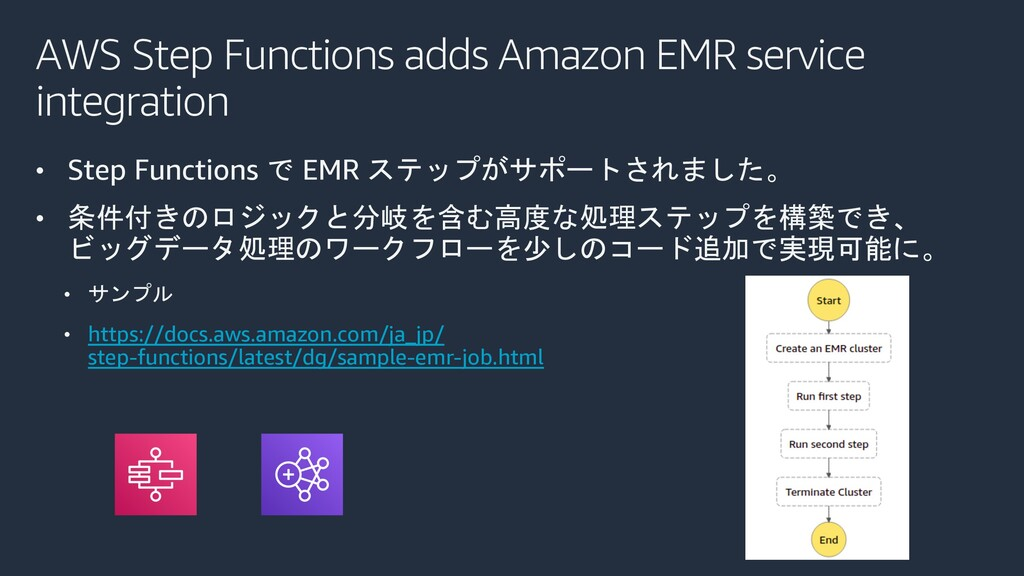 AWS Step Functions adds Amazon EMR service inte...