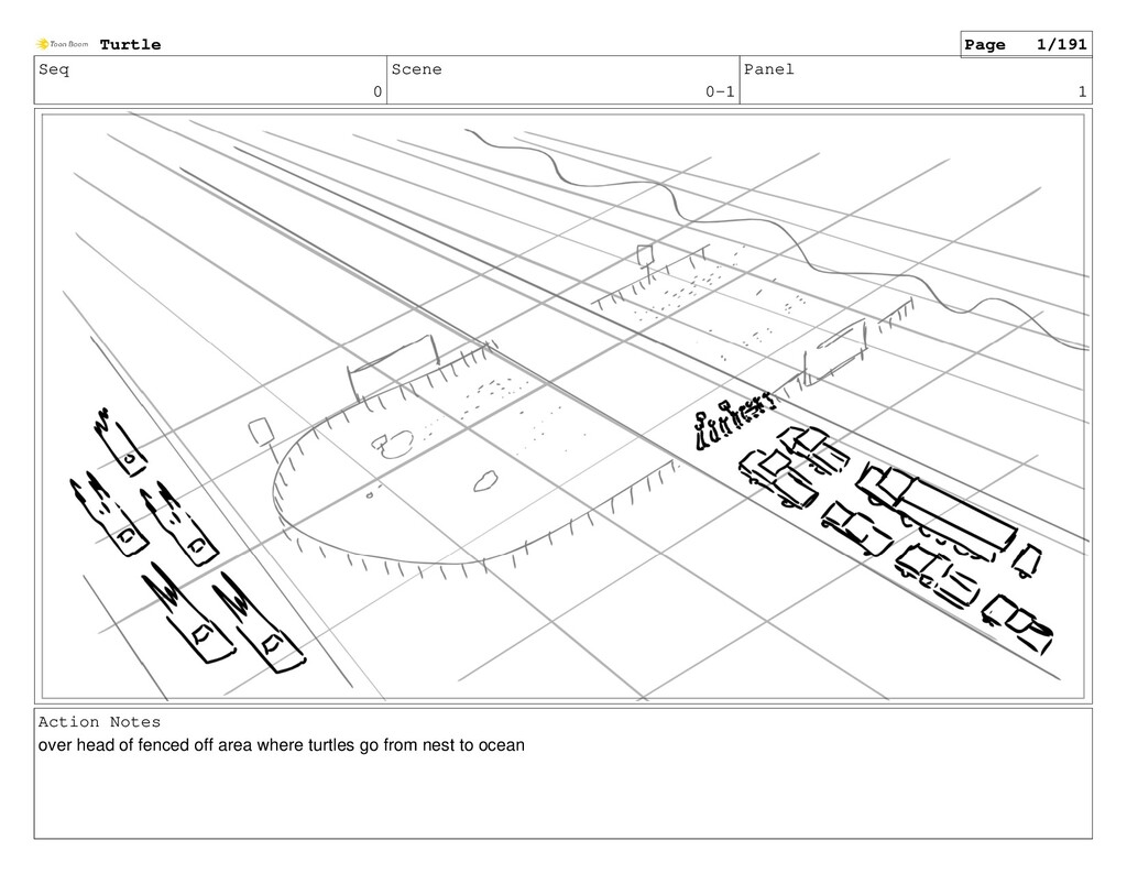 Seq 0 Scene 0-1 Panel 1 Action Notes over head ...