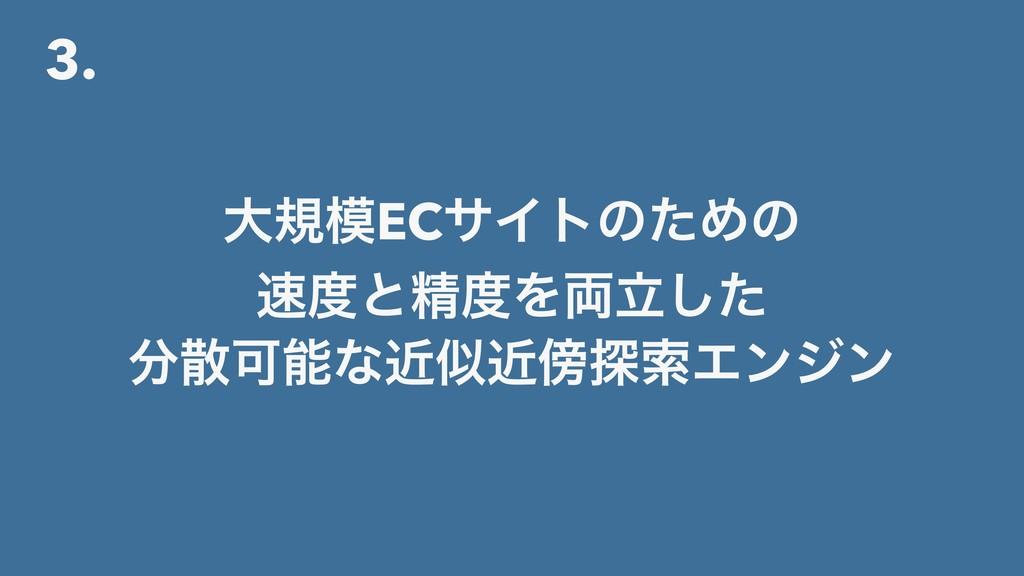 3. େنECαΠτͷͨΊͷ ͱਫ਼Λཱ྆ͨ͠ Մͳۙۙ୳ࡧΤϯδϯ