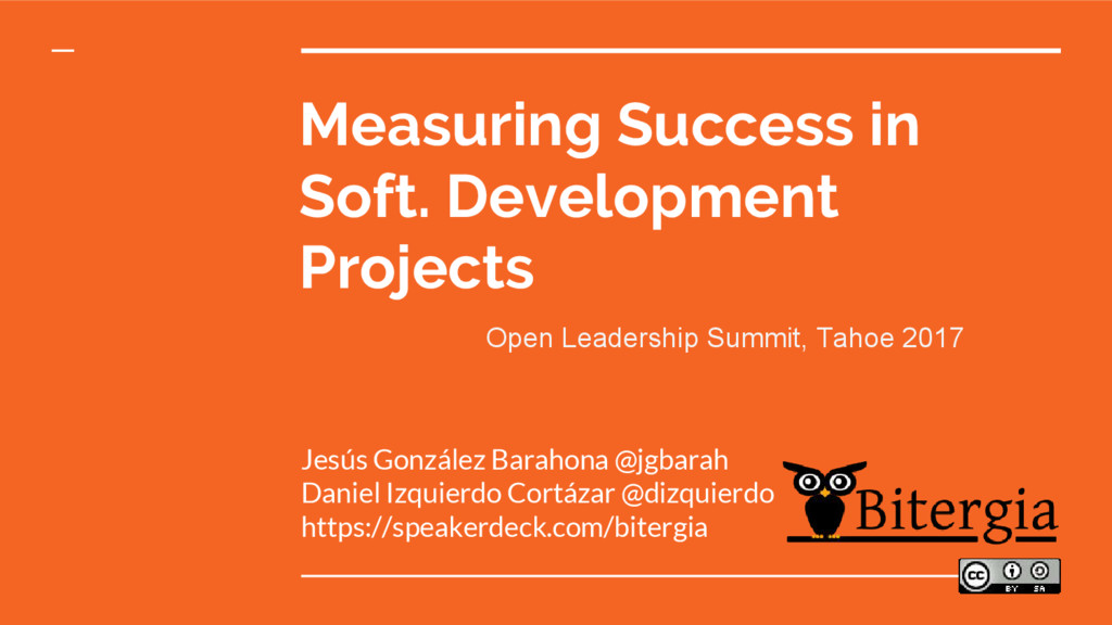 Measuring Success in Soft. Development Projects...
