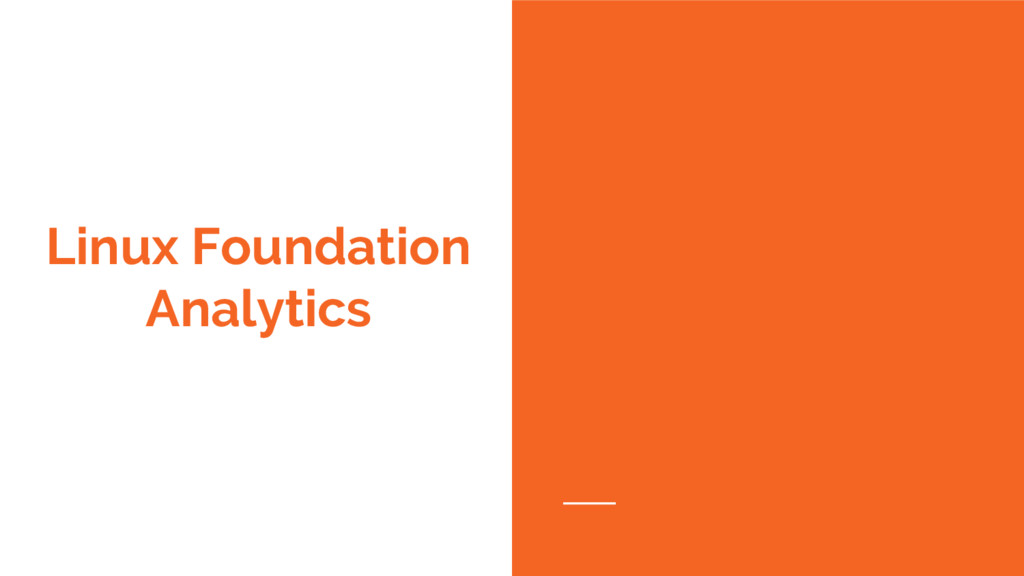 Linux Foundation Analytics