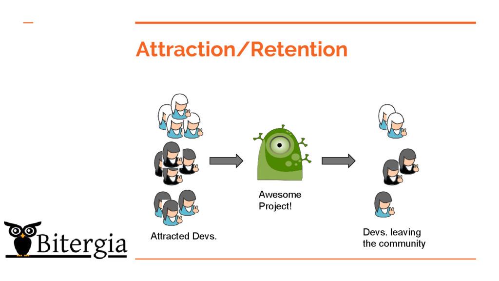 Attraction/Retention Attracted Devs. Devs. leav...