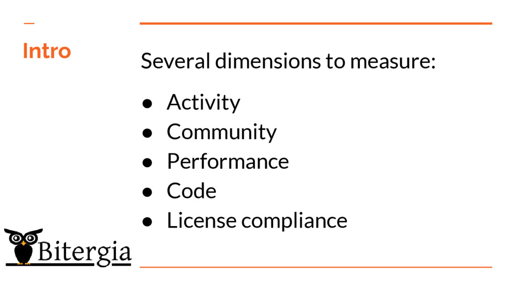 Several dimensions to measure: ● Activity ● Com...