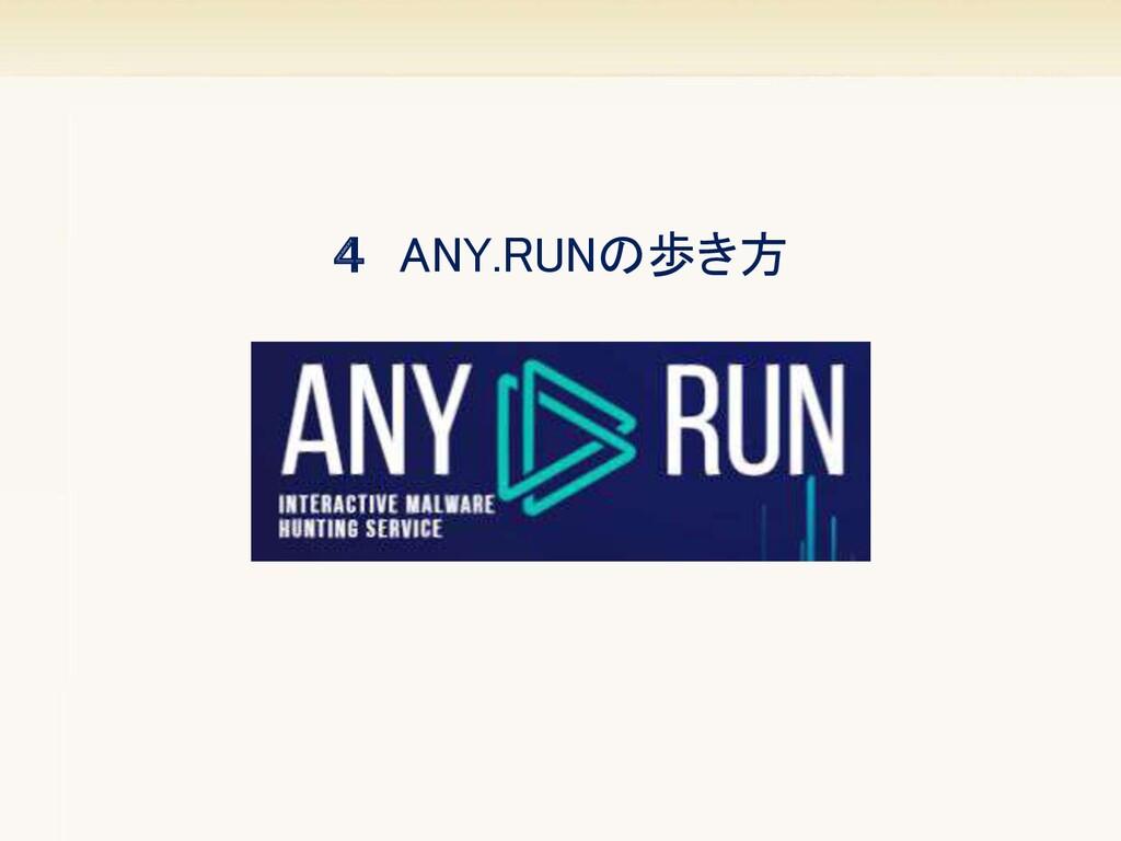 4 ANY.RUNの歩き方