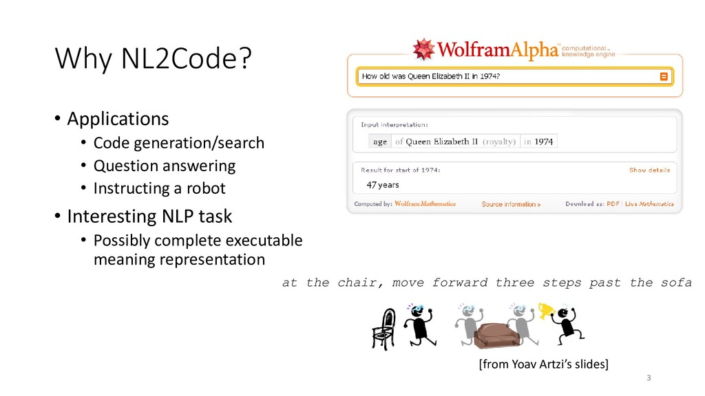 Why NL2Code? • Applications • Code generation/s...
