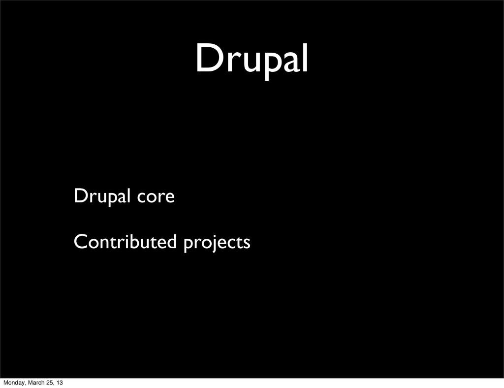 Drupal Drupal core Contributed projects Monday,...