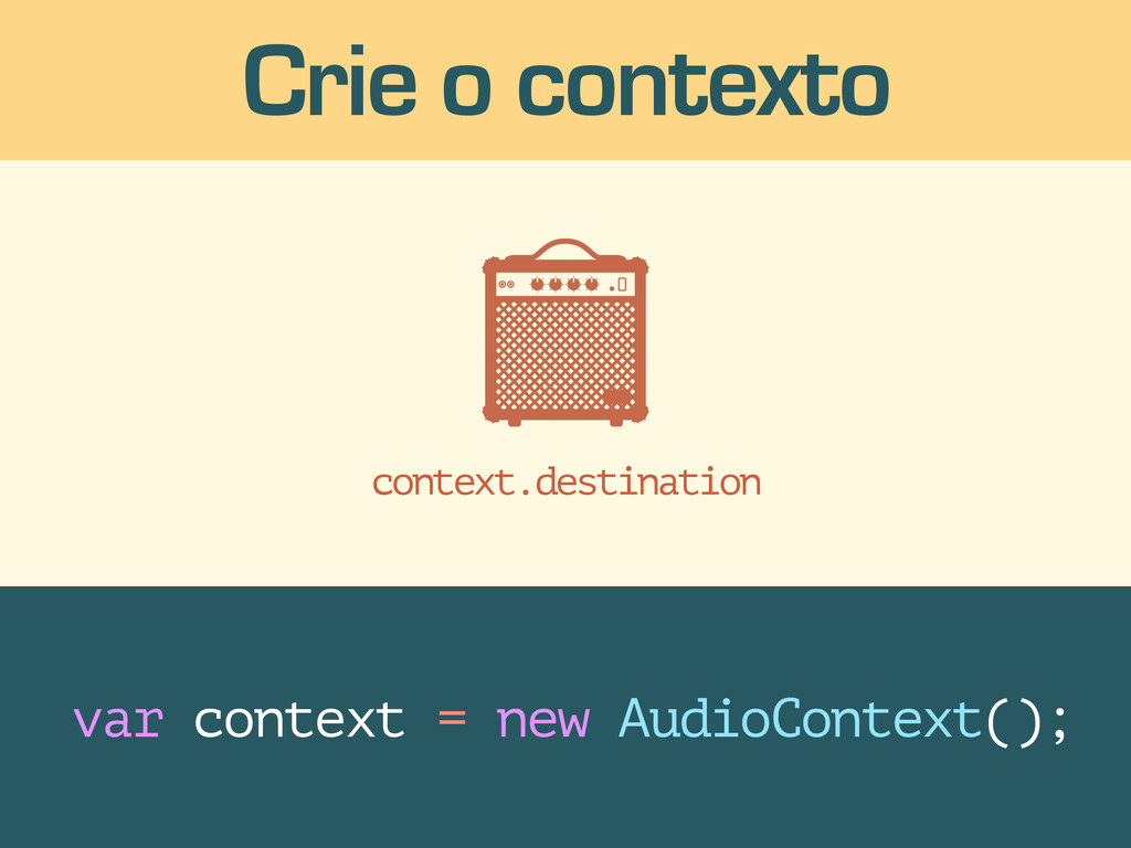 context.destination Crie o contexto var context...