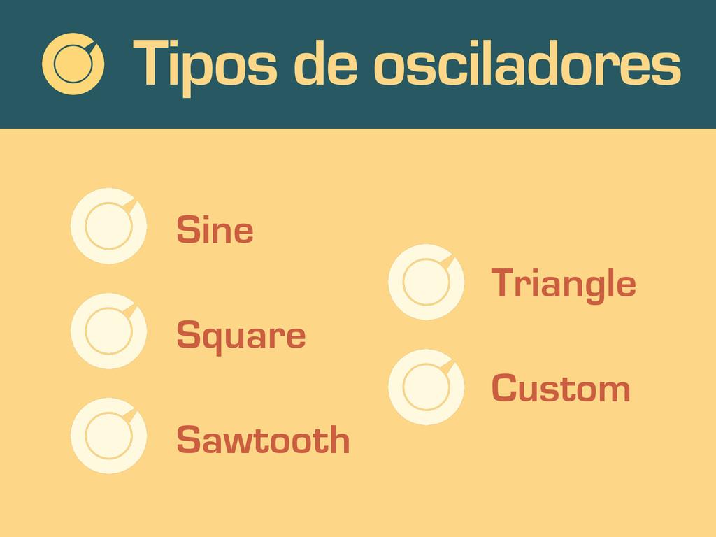 Tipos de osciladores Sine Square Sawtooth Trian...