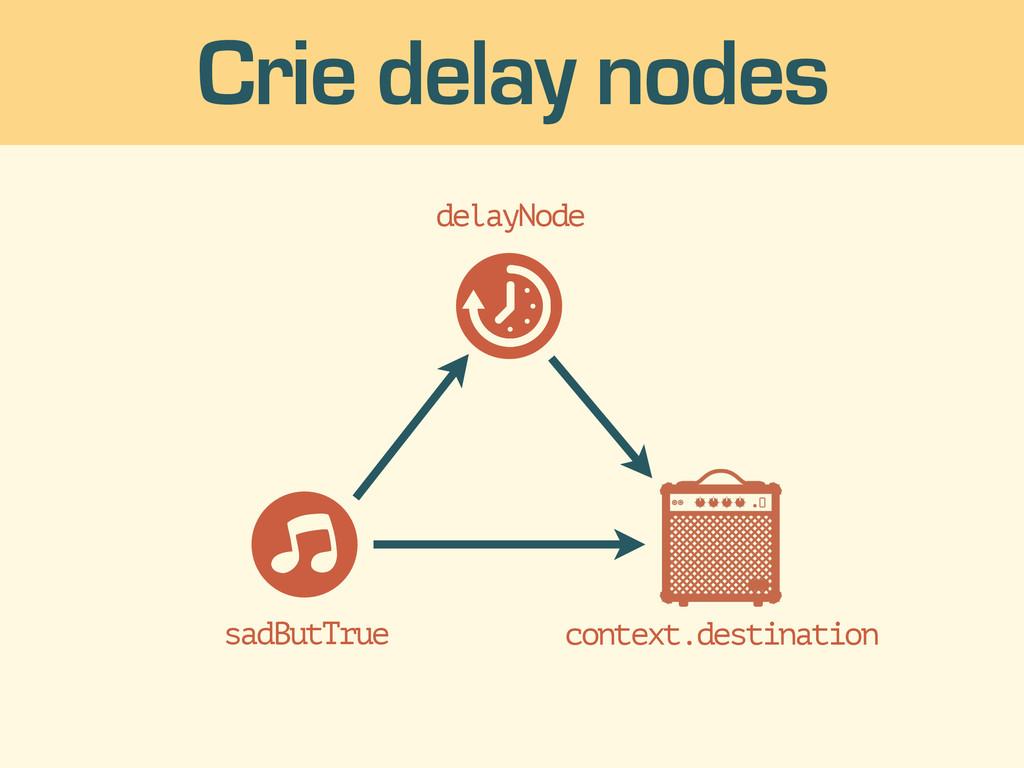 context.destination Crie delay nodes sadButTrue...