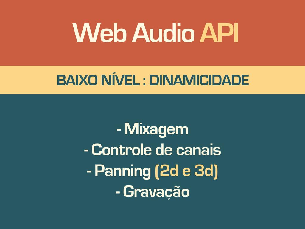 BAIXO NÍVEL : DINAMICIDADE - Mixagem - Controle...