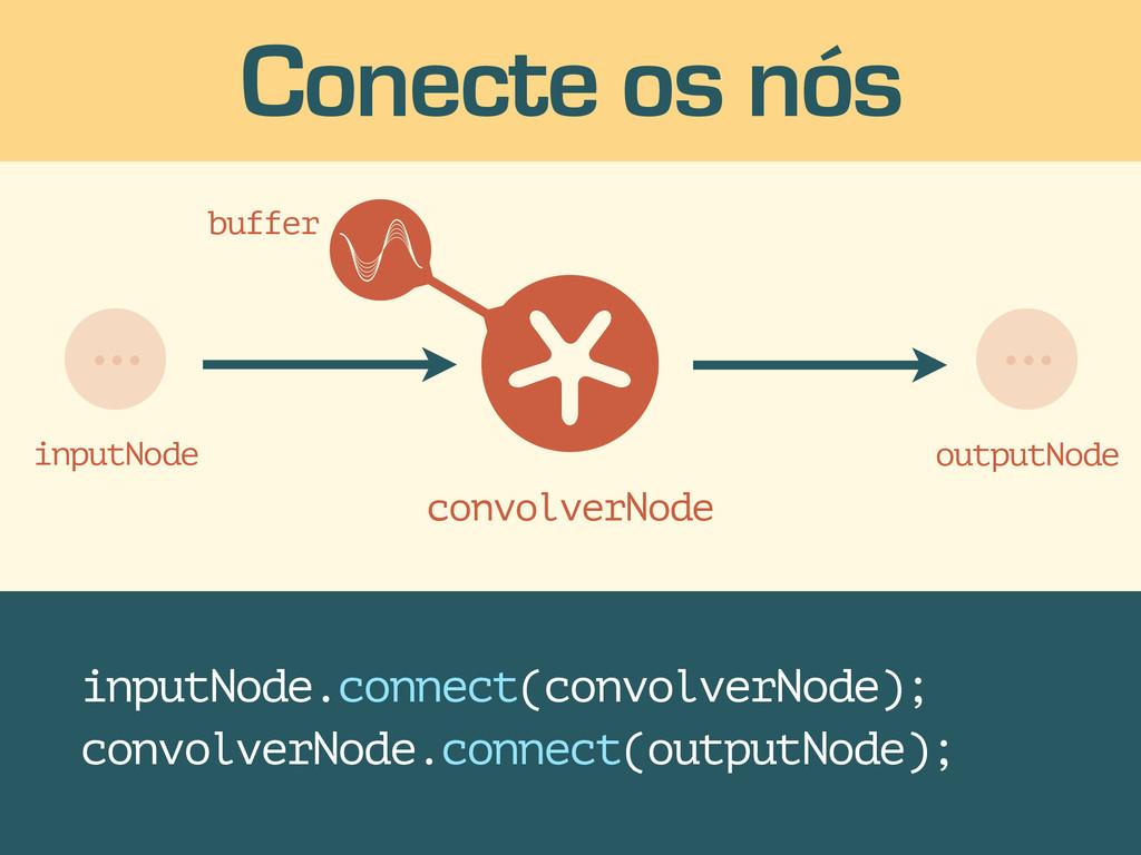 Conecte os nós inputNode.connect(convolverNode)...