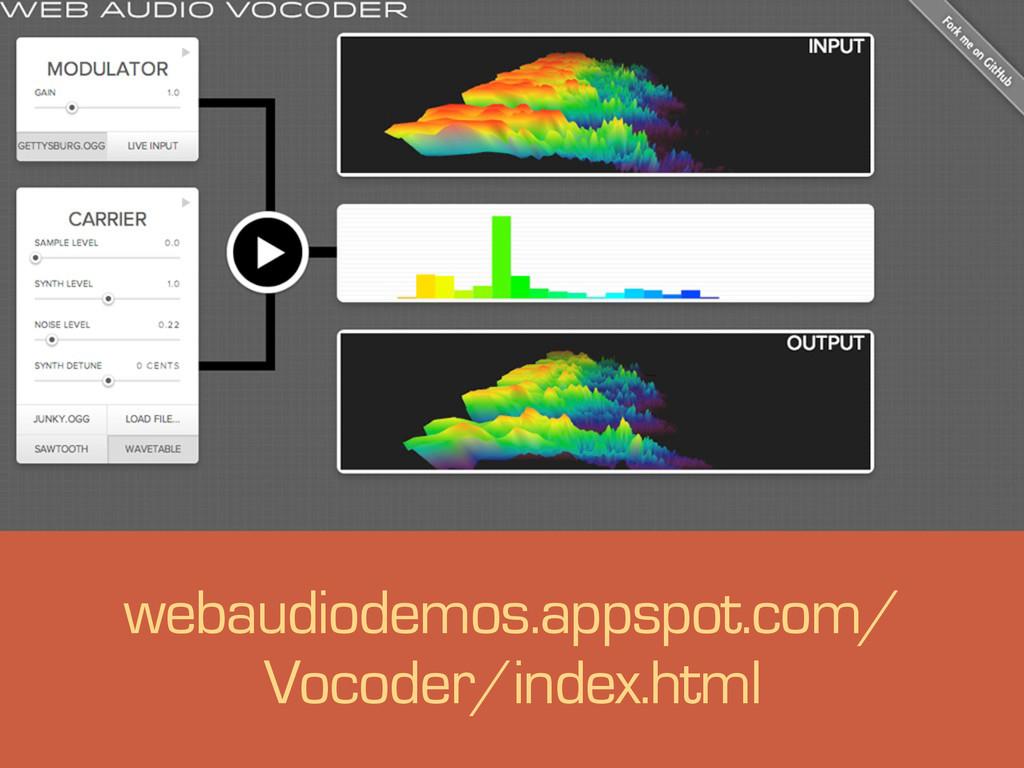 s webaudiodemos.appspot.com/ Vocoder/index.html