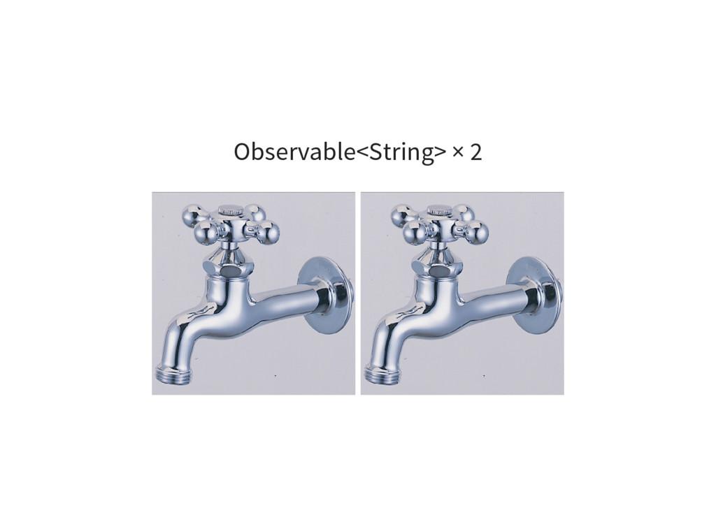 Observable<String> × 2