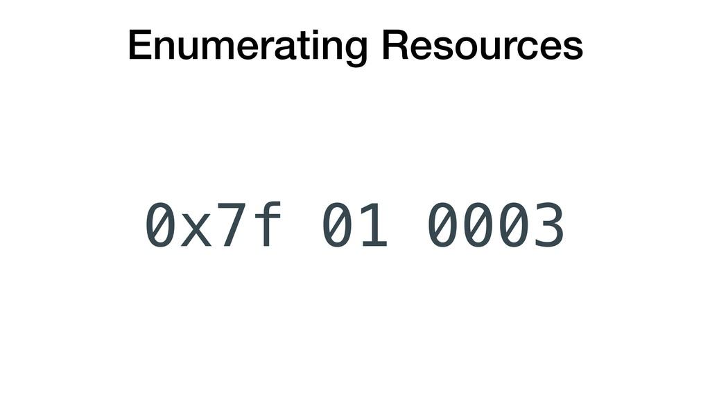 Enumerating Resources 0x7f 0003 01