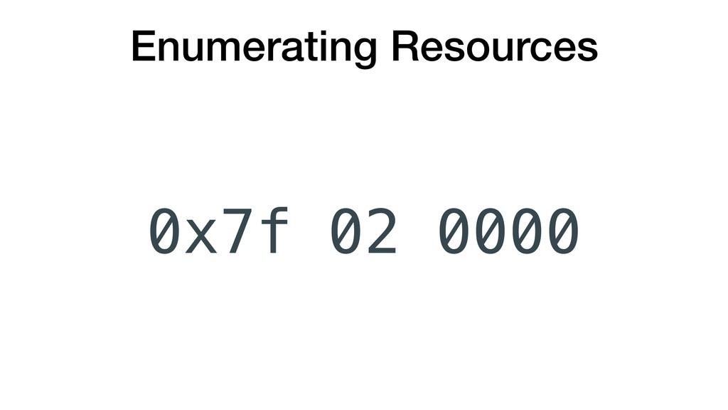 Enumerating Resources 0x7f 0000 02