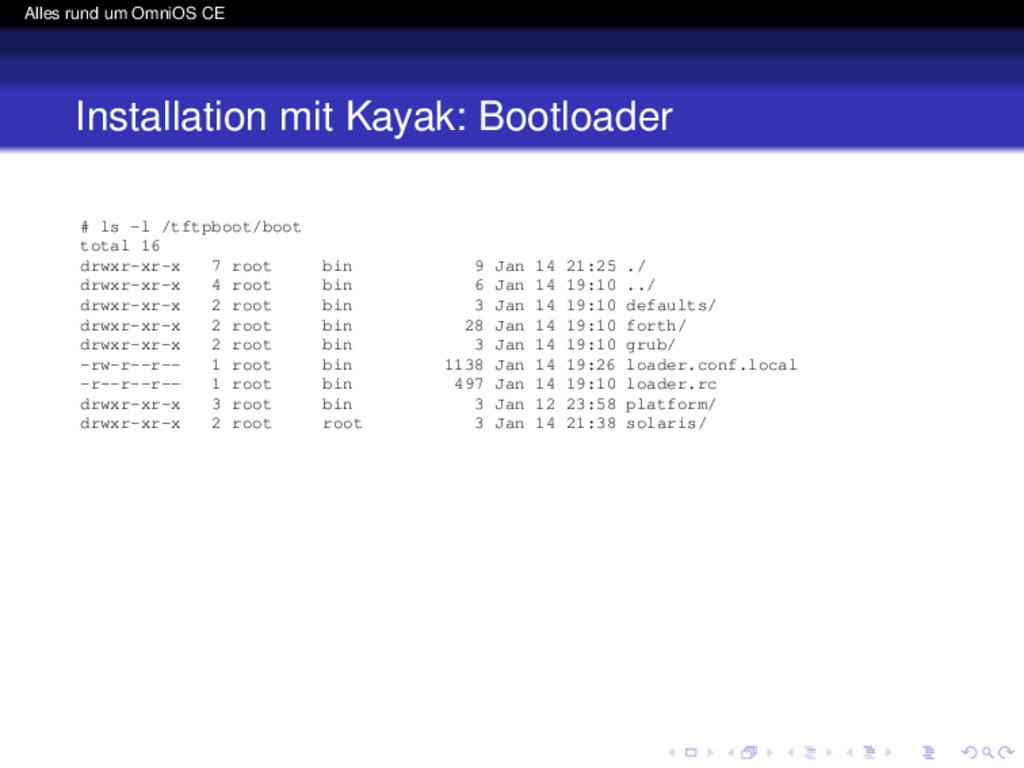 Alles rund um OmniOS CE Installation mit Kayak:...