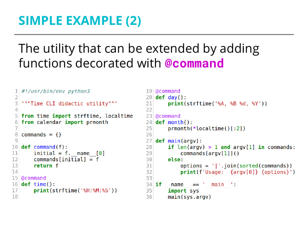 SIMPLE EXAMPLE (2) The utility that can be exte...