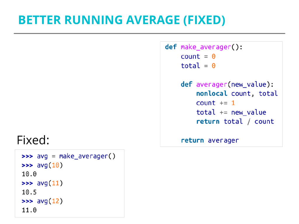 BETTER RUNNING AVERAGE (FIXED) Fixed: