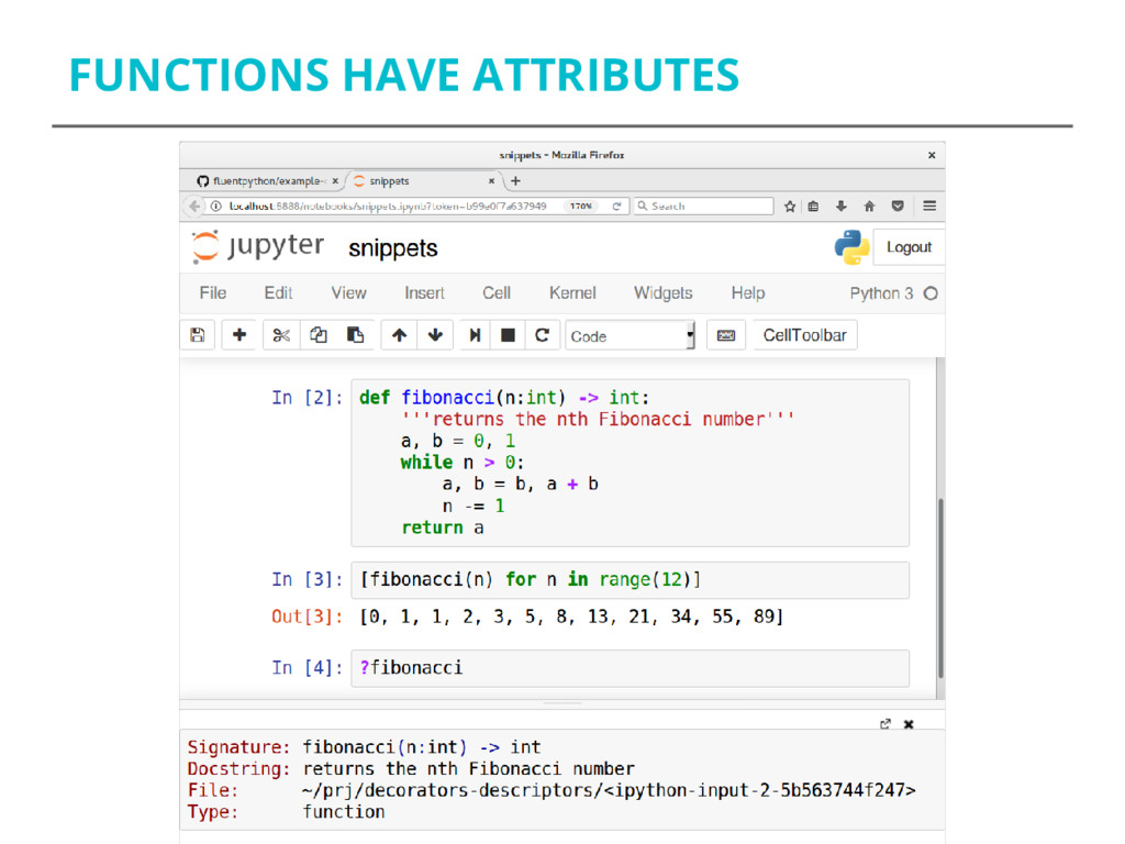 FUNCTIONS HAVE ATTRIBUTES