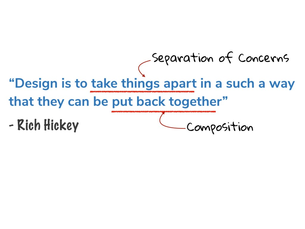 Separation of Concerns Composition