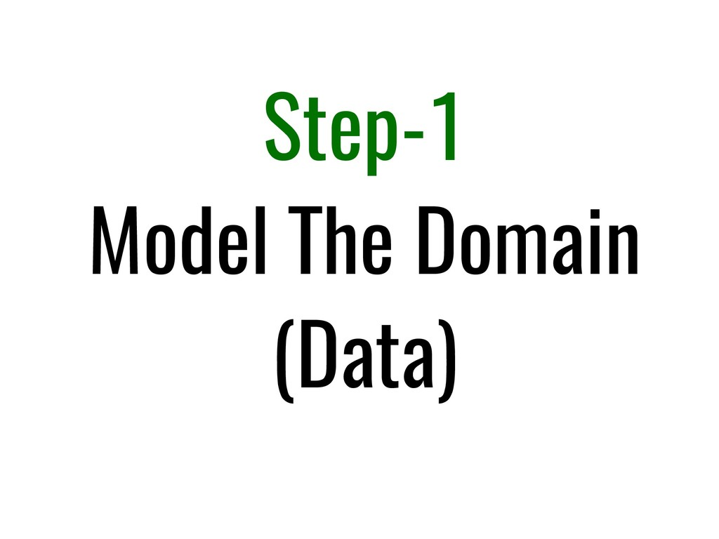Step-1 Model The Domain (Data)