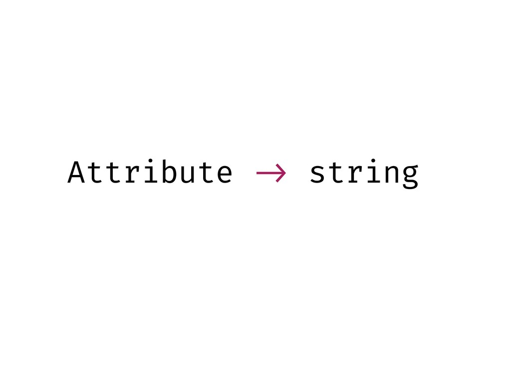 Attribute !-> string