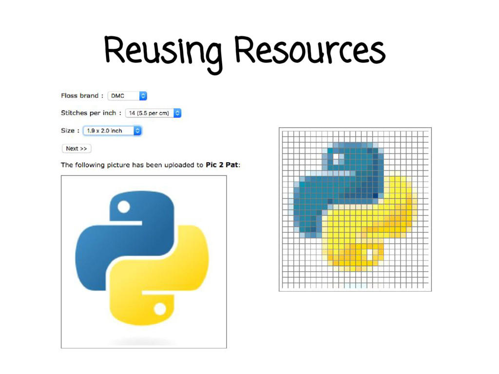 Reusing Resources